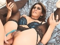 MILF Raylene in lingerie suggests her soaked fuckable ass to hot thick dicked neighbour that satisfies her anal needs and desires in this video. She feels happy getting a-hole fucked.