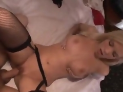 Hot gal in stockings makes a arse call