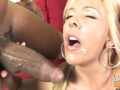 Misty Vonage let guy cum in her mouth and face