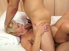 Sexually excited granny Malya loves the sweet intense pleasure of a big cock ramming her hard