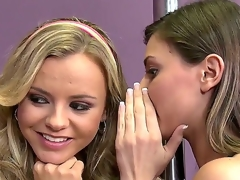 Blond hussy Bree Olson is too lascivious to resist Keiran Lees erect love wand