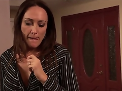 You know, that Michelle Lay is a bold milf and she prefers to engulf young cocks and her todays victim is a handsome stud named Rocco Reed. That guy heard, that Mrs. Lay is an experienced lady