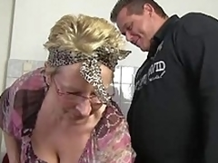 German granny in act