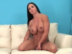 Fit milf sits her hawt cunt on a sextoy