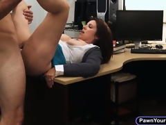 Busty milf ups her cash by sucking dick