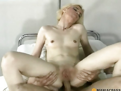 Anal golden-haired fucks boy