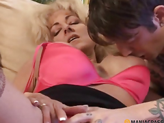 Woman strips juvenile guy