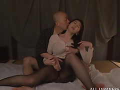 Hitomi Oohashi is an arousing older Oriental model. Her horny boyfriend enjoys her hot body and gets str8 to her snatch and is tonguing her bawdy cleft mercilessly! She has many orgasms, and in turn sucks his cock like a porn star before he fucks her deep cleavage and cums on her lovely mountains!
