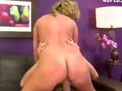 Stevie A a blond divorcee newbie bonks for porn