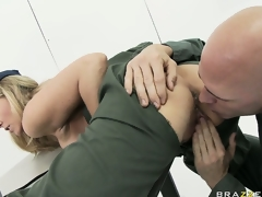 MILF sweetheart Julia Ann rammed hard in the army by a horny soldier