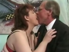Grown up brunette Jenny Joyce receives her cunt licked and fucked hard