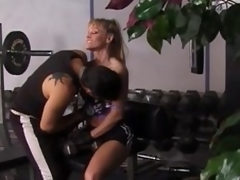 Fit golden-haired milf gets unforgettably fucked in a gym