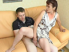 Sultry mature gal is very good in luring younger chap into steamy fucking